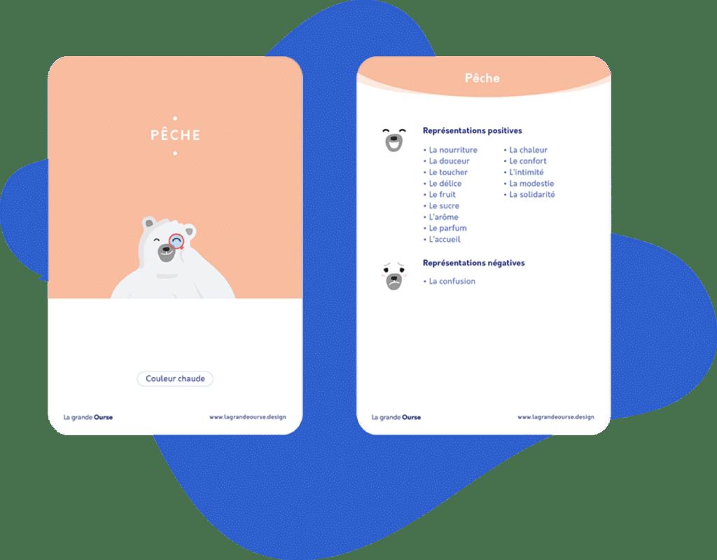 cartes couleurs-pêche