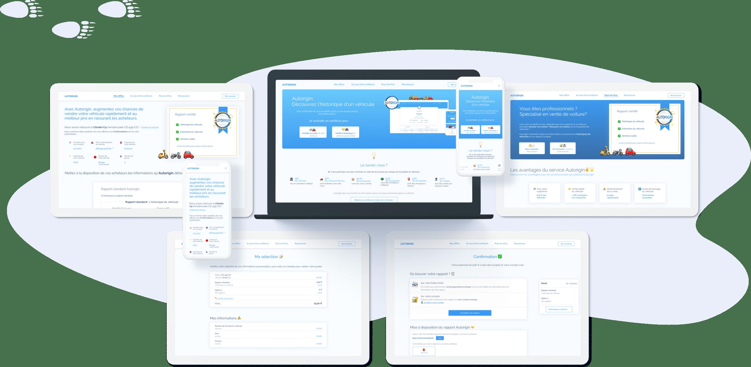 Autorigin - Conception UI (desktop et mobile)