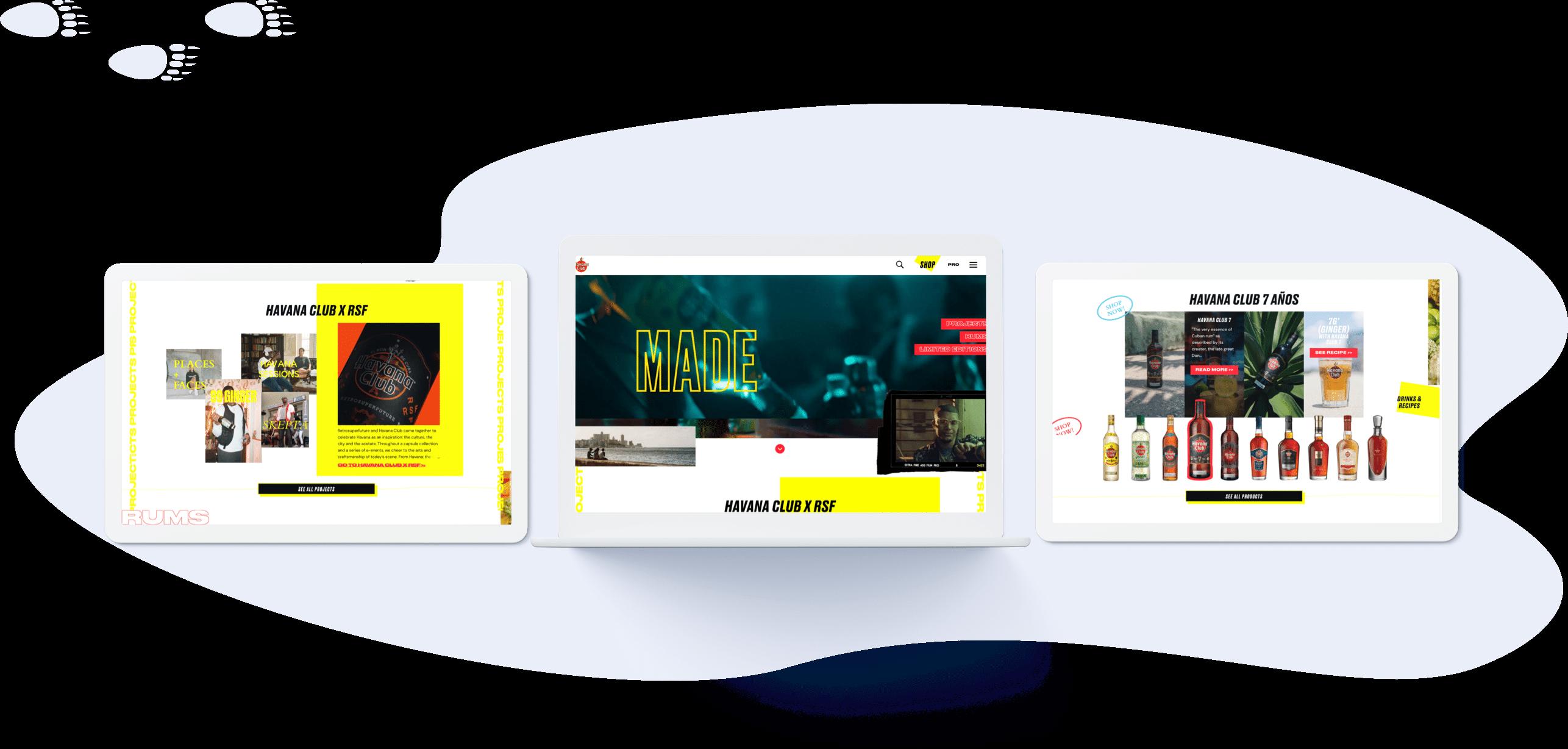Havana - Conception UI (desktop)