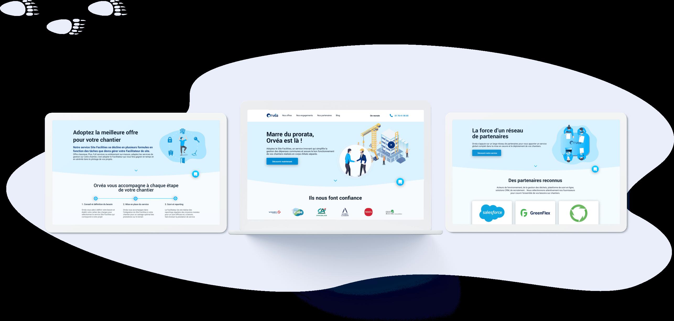 Orvéa - Conception UI (desktop)