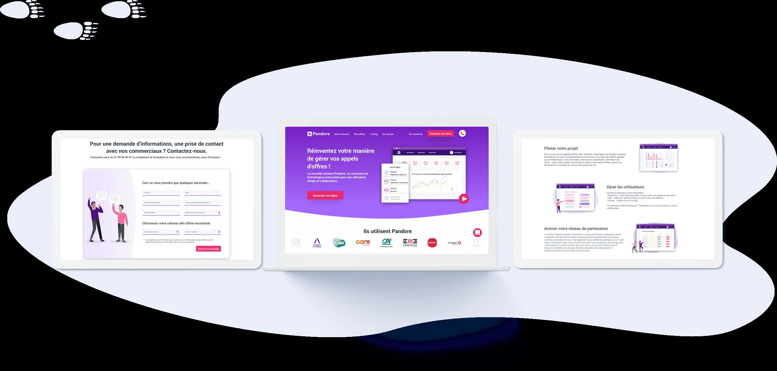 Pandore - Conception UI (desktop)