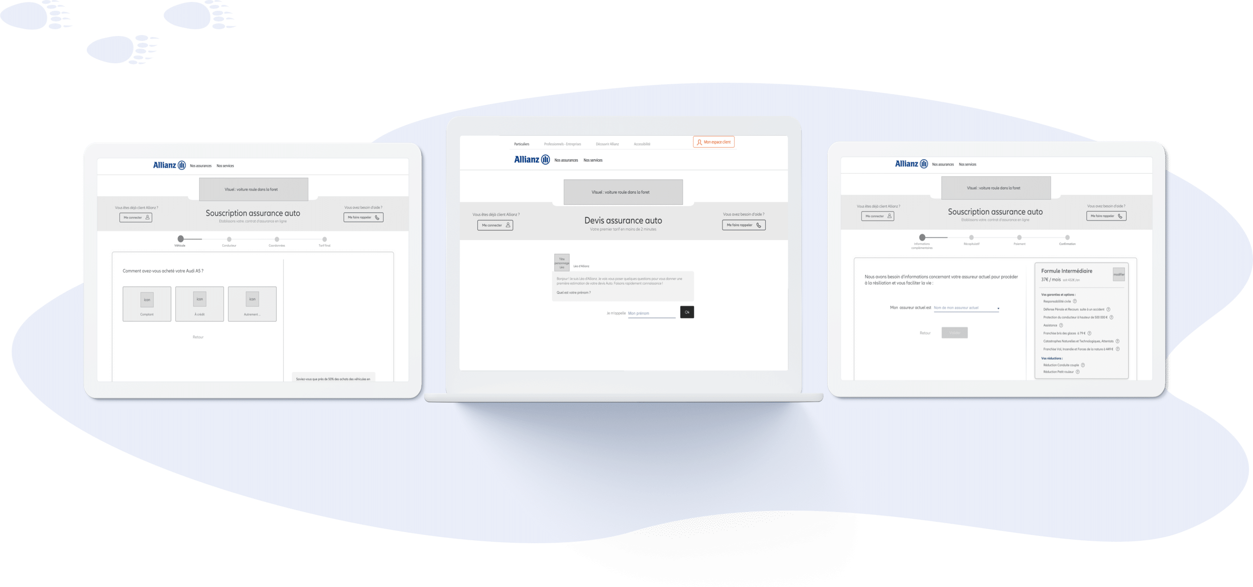 Allianz auto - Conception UX (desktop et mobile)