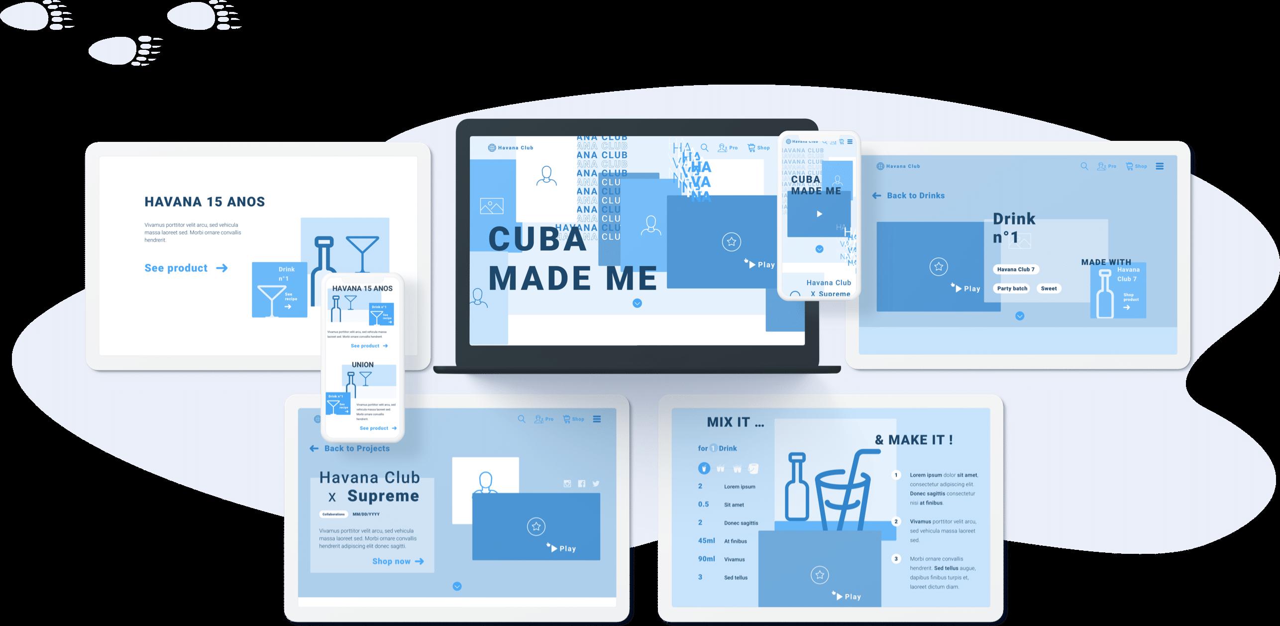 Havana - Conception UX (desktop)