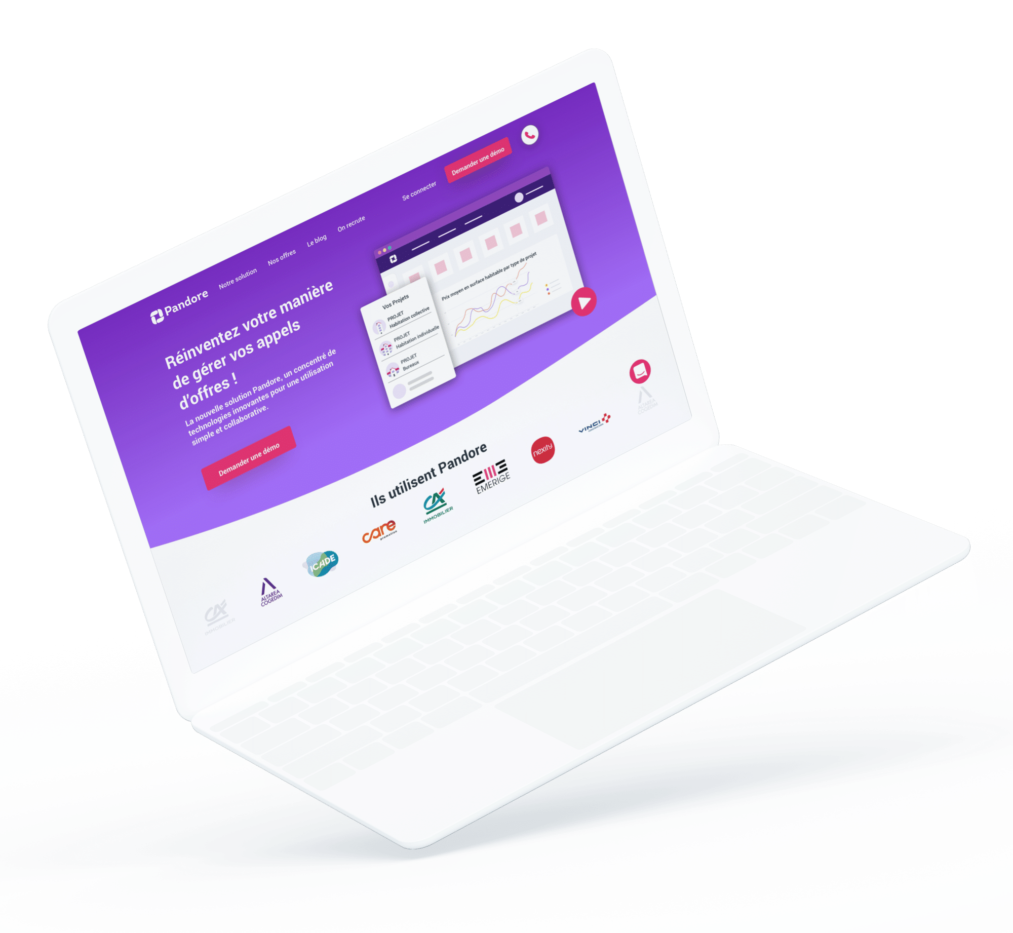 Pandore - site web desktop