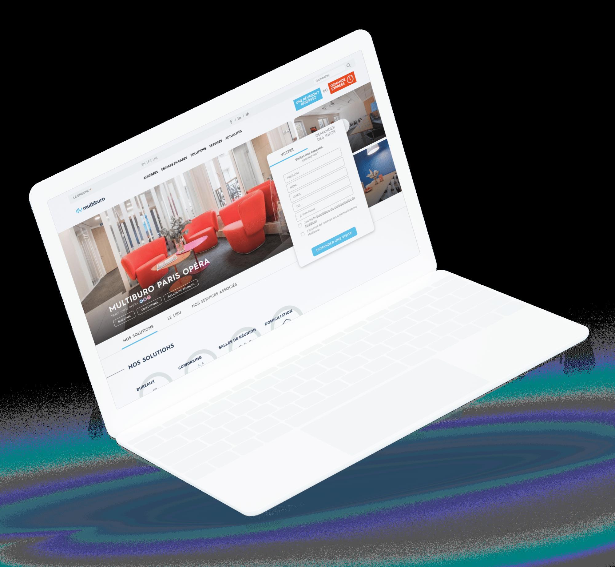 Multiburo - site web desktop