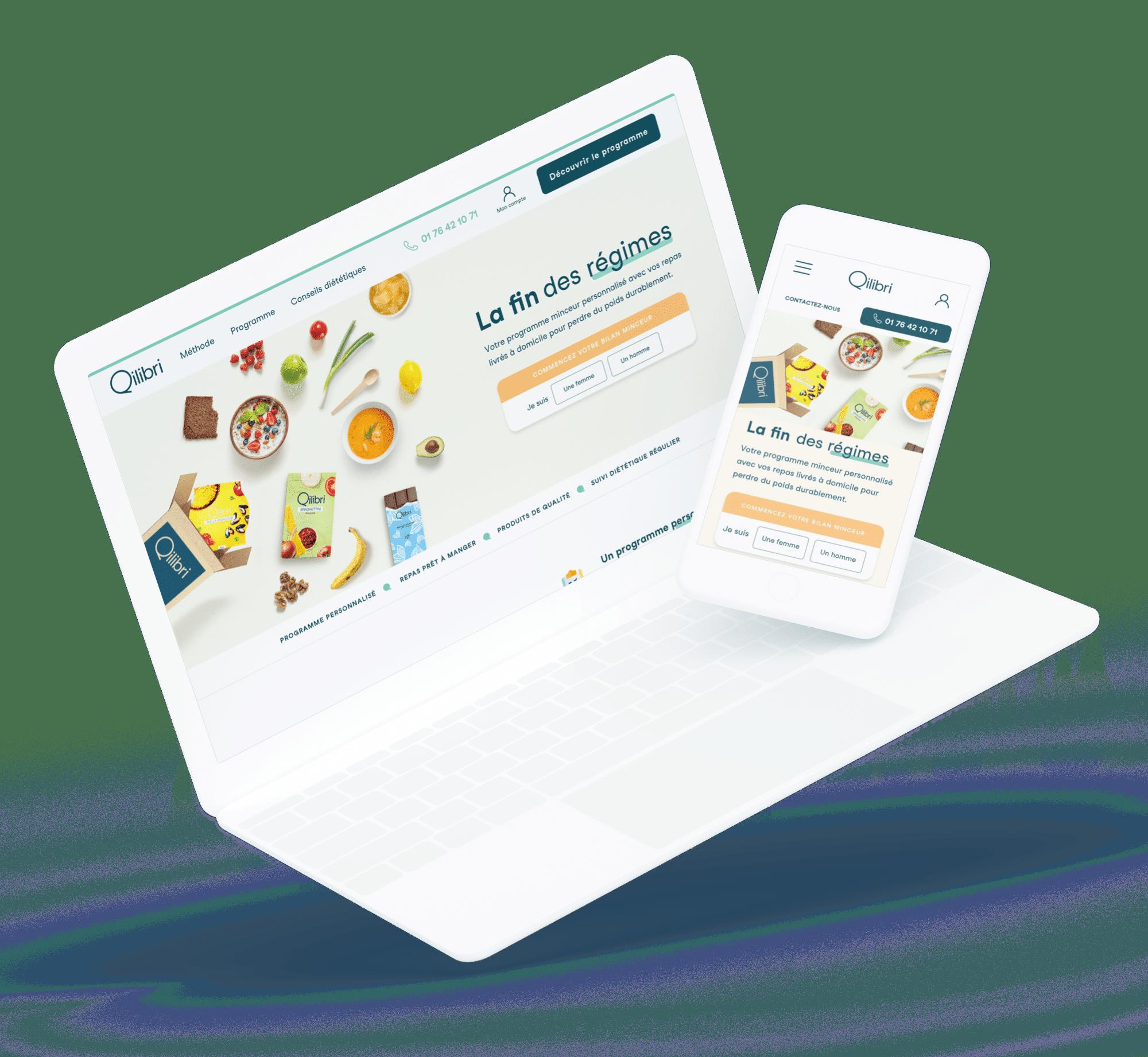 Qilibri (Site) - Site desktop et mobile