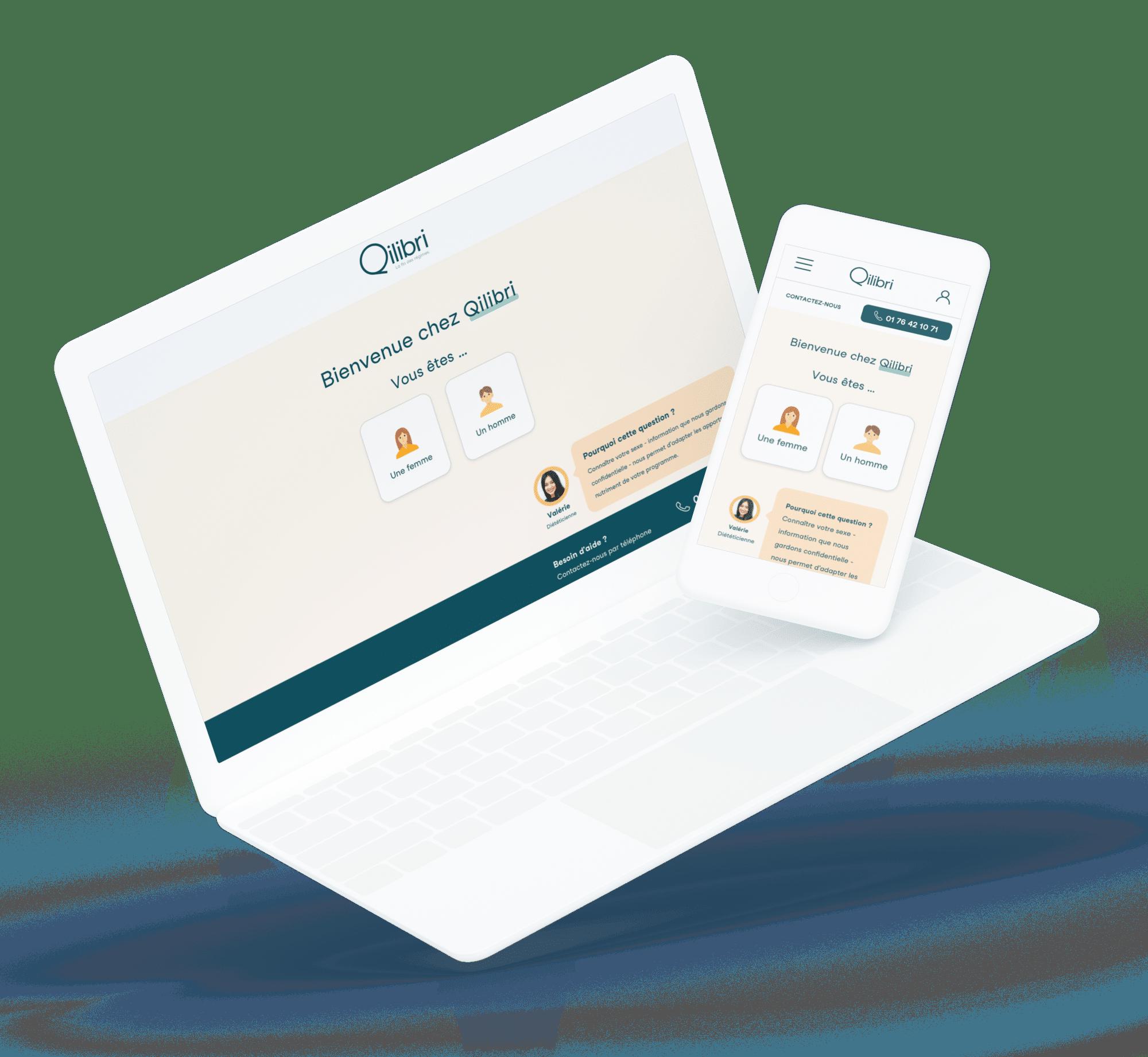 Qilibri (Parcours de vente) - Site desktop et mobile
