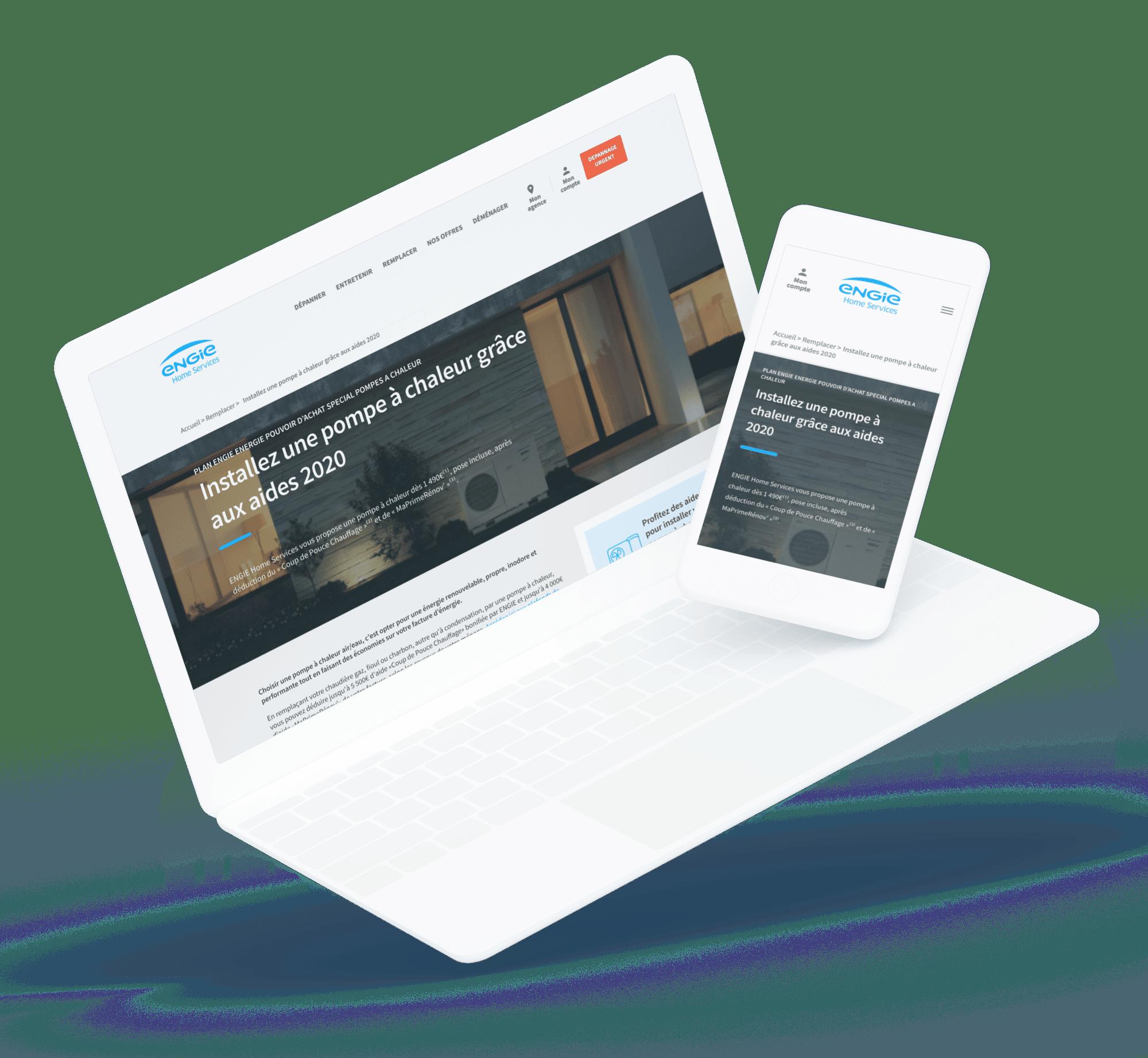 Engie (Site web) - Site desktop et mobile