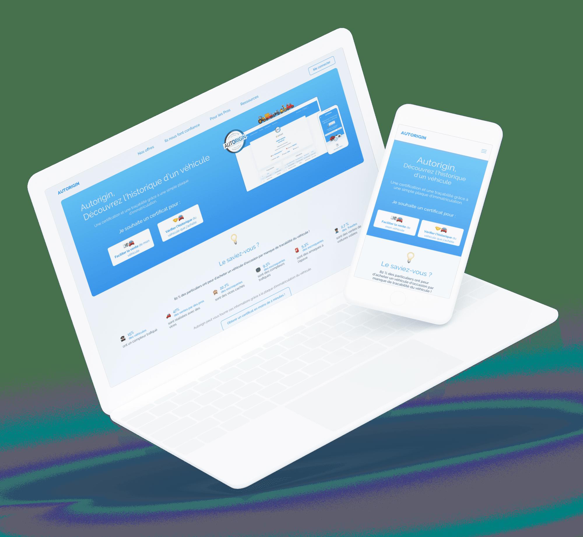 AUTORIGIN (Site et parcours de vente) - Site desktop et mobile