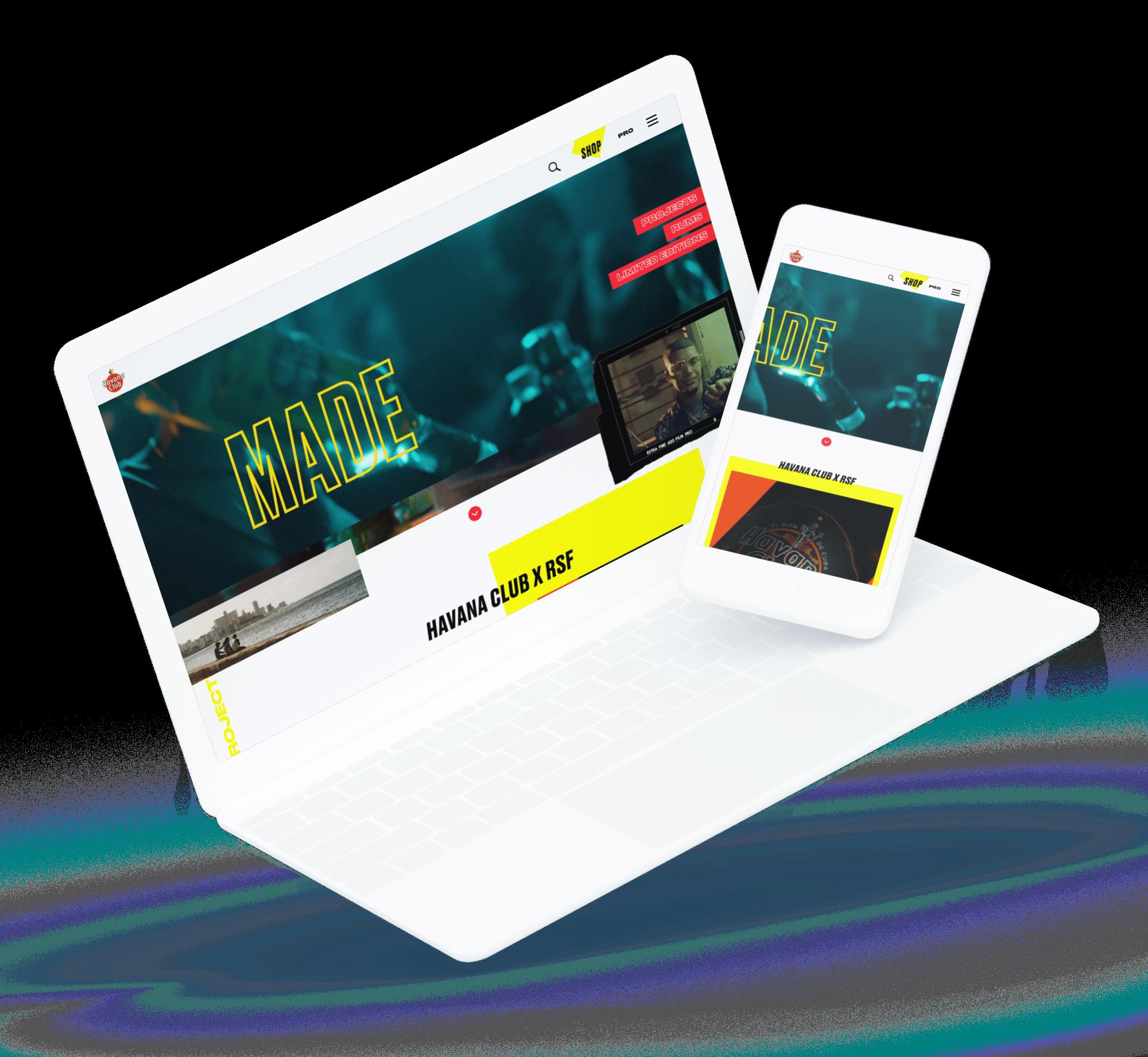 Havana - site web desktop
