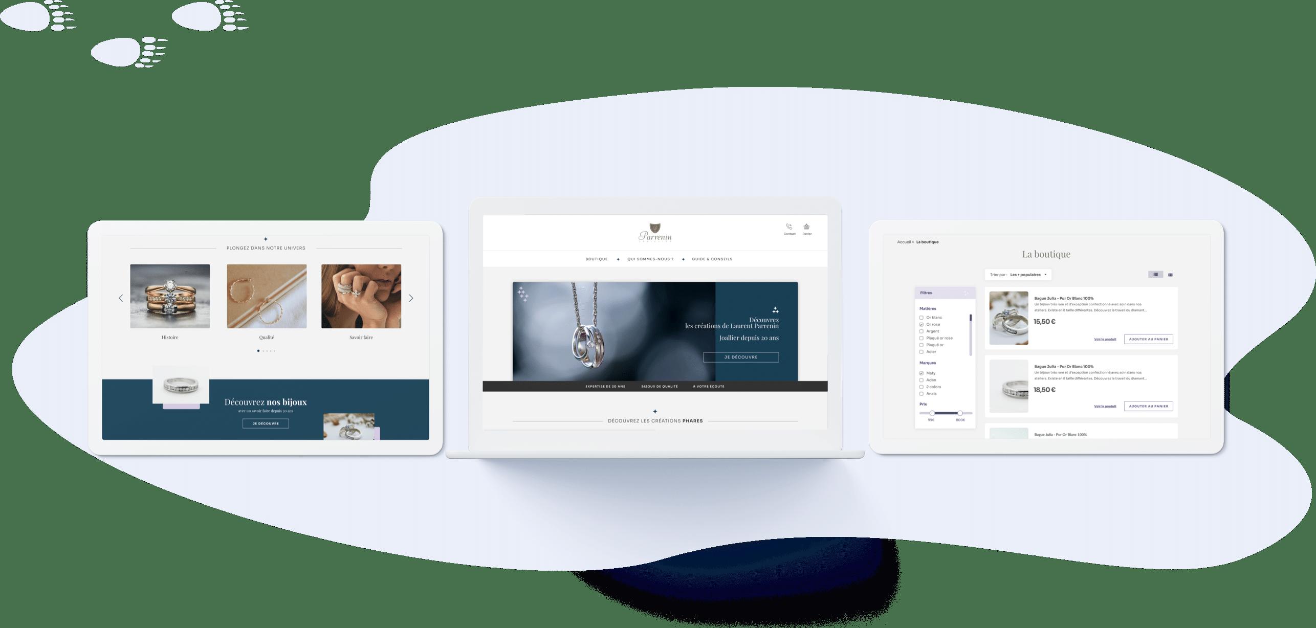 Maison Parrenin - Conception UI (desktop)