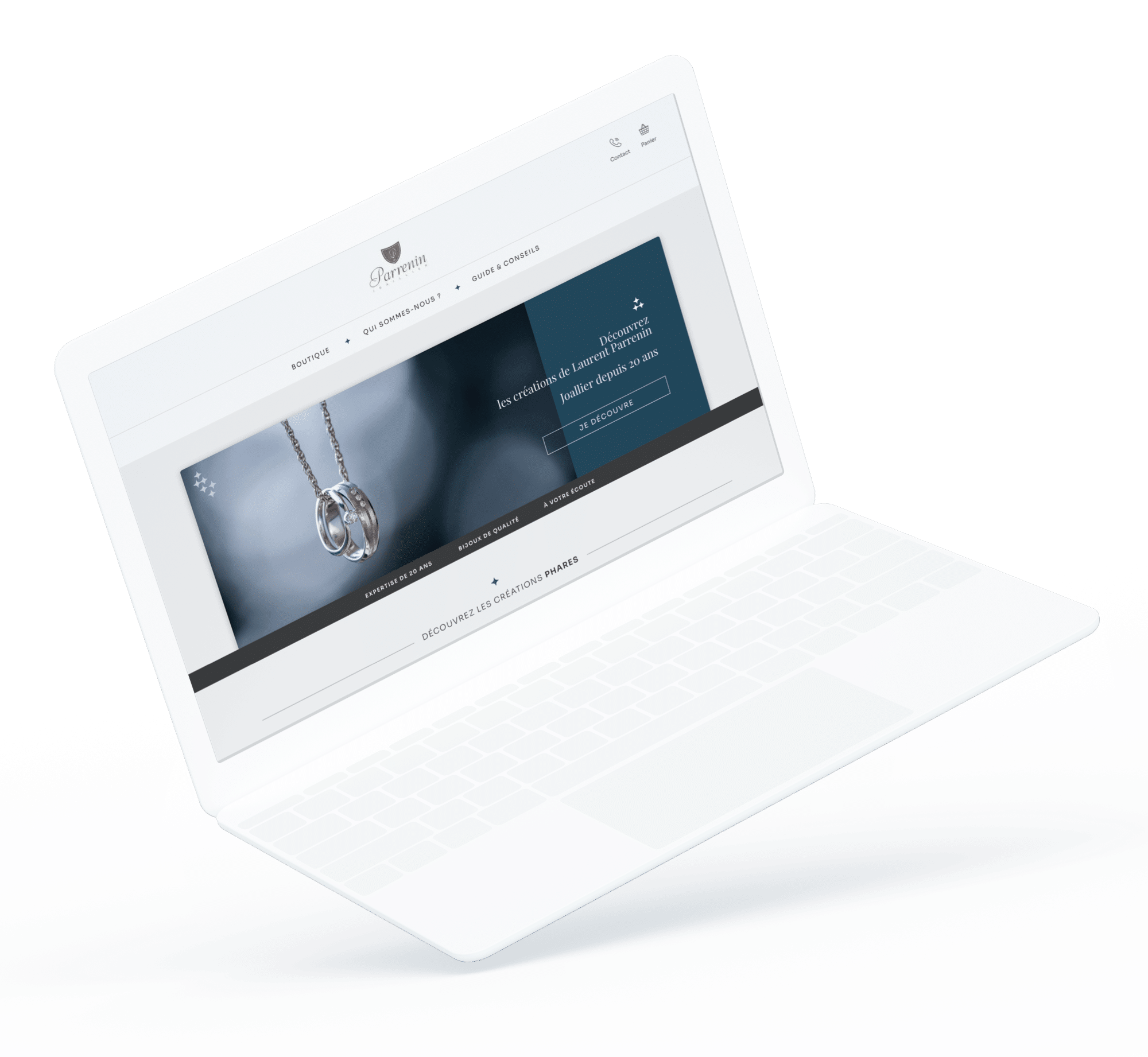 Maison Parrenin (Site e-commerce) - Site desktop