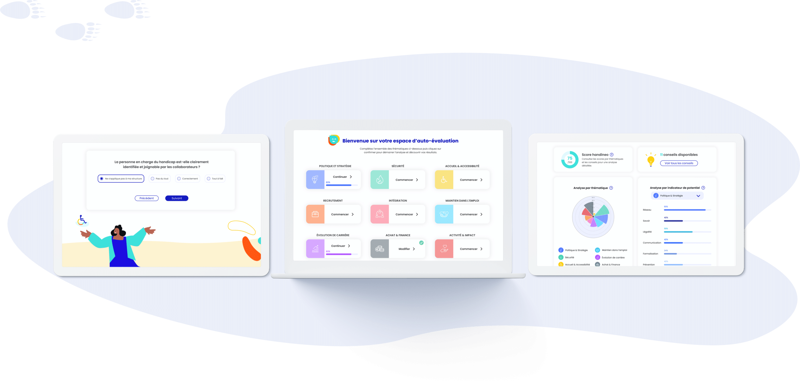 Handineo - Conception UI (desktop)