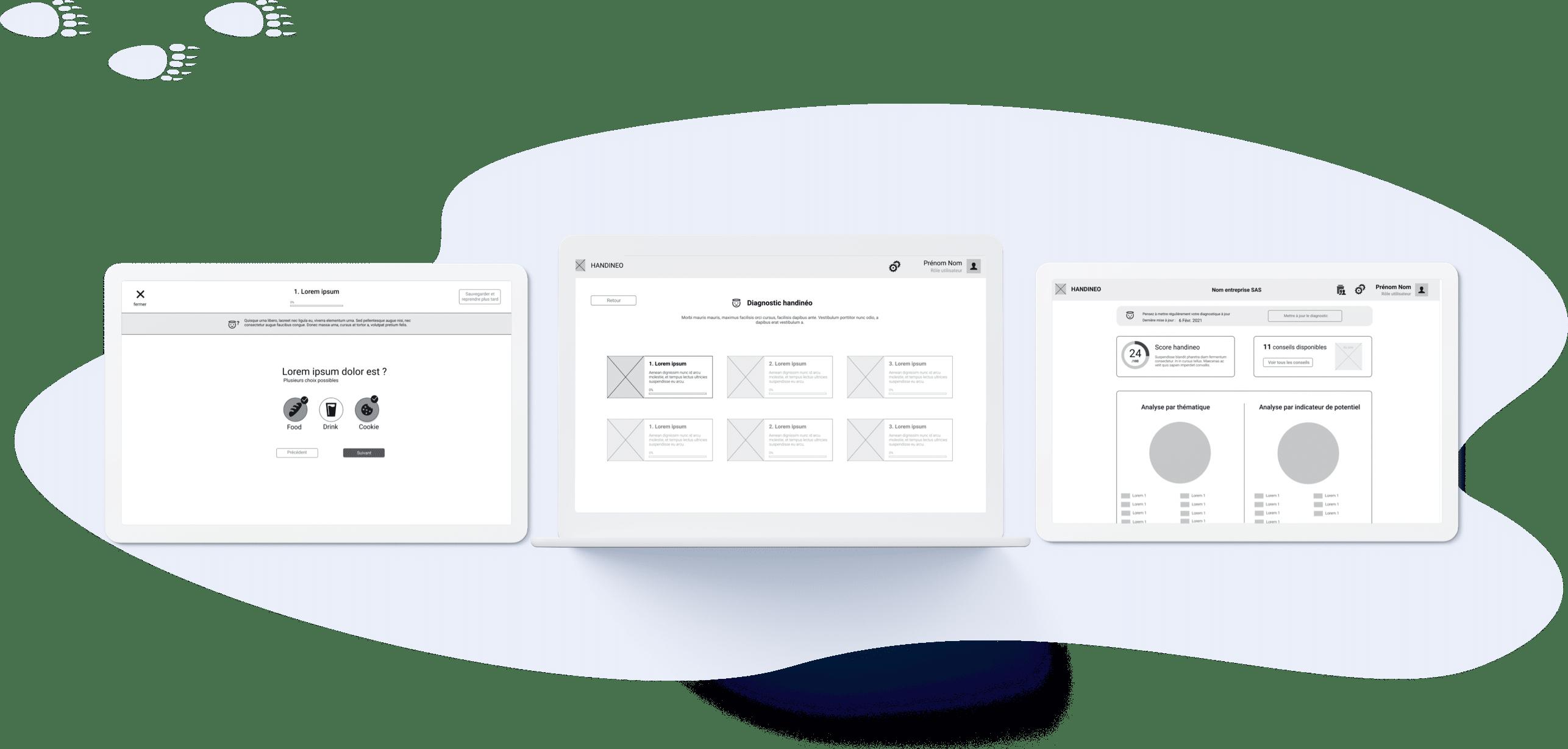 Handineo - Conception UX (desktop)