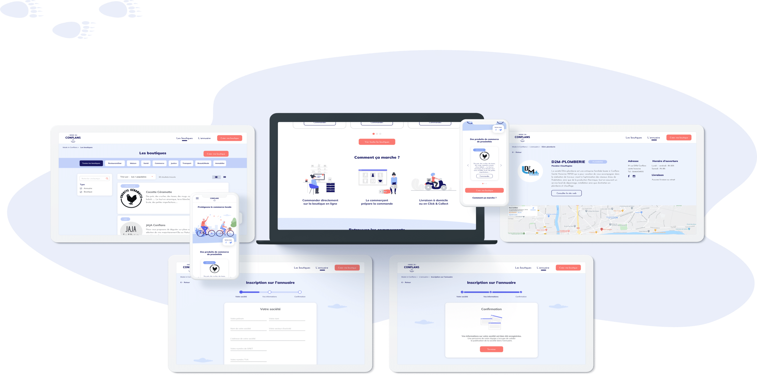Made in conflans - Conception UI (desktop et mobile)