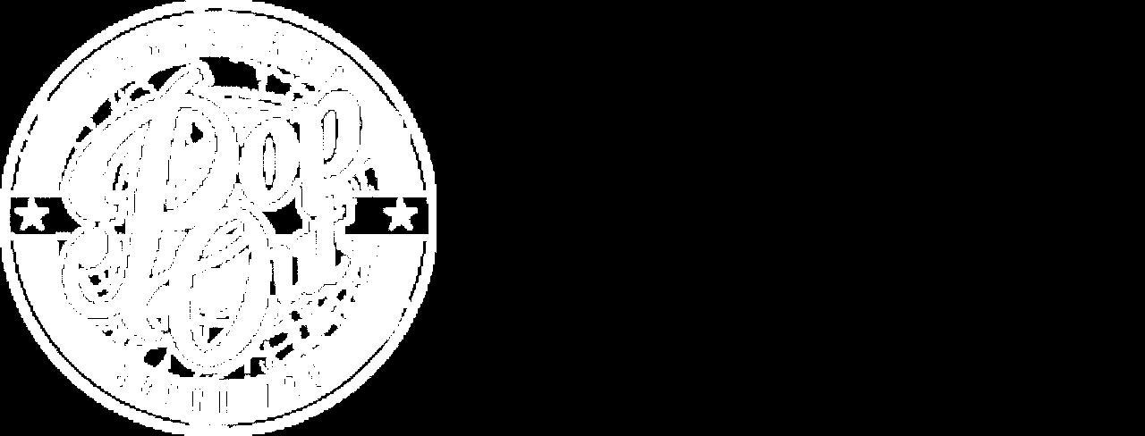 Pop out skate shop - logo (blanc)