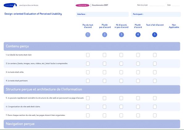 Questionnaire DEEP